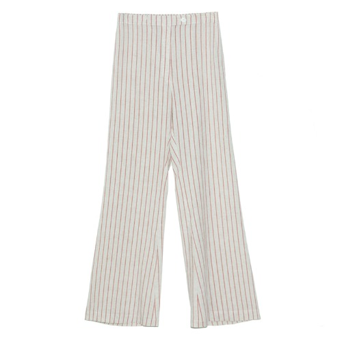 Stripe color pants(red)