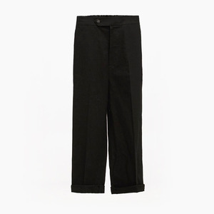 Linen baggy trouser(black)