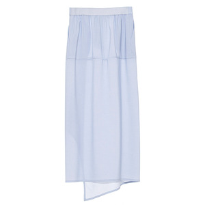 Slit skirt(greysh blue)