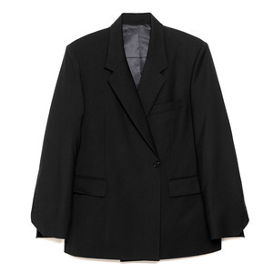 no button blazer(black)