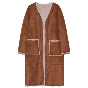 reversible fake mustang coat(camel)
